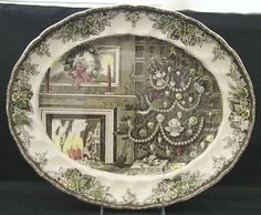 I've never seen this one before - friendly village by Johnson Brothers Christmas platter