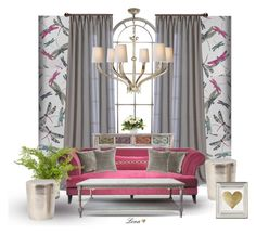 """""""Interior"""" by lenadecor ❤ liked on Polyvore featuring interior, interiors, interior design, home, home decor, interior decorating, Matthew Williamson, Visual Comfort, Southern Enterprises and Marrakech"""