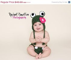 ON SALE Boy or Girl the Frog Handmade crochet Hat by NattyHatty, $36.07
