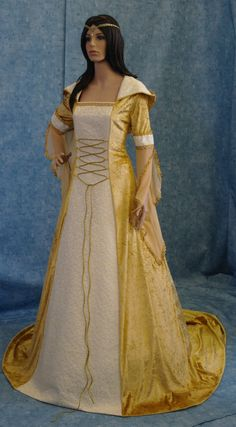 medieval handfasting renaissance Wedding dress by camelotcostumes, £166.00
