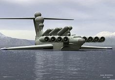 Ekranoplan. The Black Sea Monster. The Russians must have read all the sci-fi mags I did