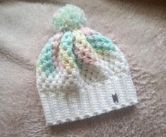 Check out this item in my Etsy shop https://www.etsy.com/listing/495255962/girls-cotton-candy-crocheted-puff-stitch