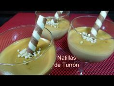 Natillas de Turrón Panna Cotta, Pudding, Candy, Chocolate, Sweet, Ethnic Recipes, Desserts, Food, Mousse