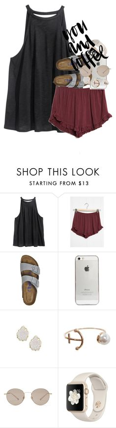 """don't chase a guy, let him chase you."" by ellaswiftie13 on Polyvore featuring H&M, Birkenstock, Agent 18, Kendra Scott, Humble Chic and Gucci"