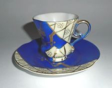 Hand Painted Demitasse Cup and Saucer by Ucagco China, Made in Japan