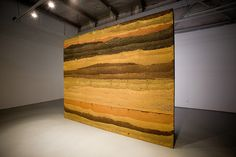 A beautiful example of a rammed earth wall. So pretty it had to be placed in an art gallery.