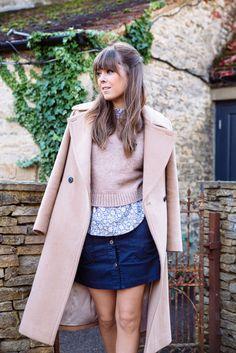 blush sweater and coat   Jenny Cipoletti of Margo & Me