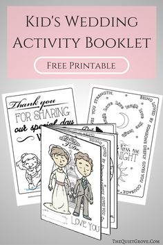 Free Printable Kids Wedding Activity Booklet