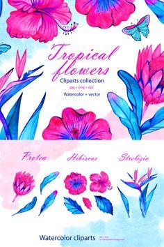 Neon Flowers #neon #tropical #clipart #planneraddict # ...