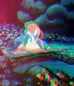 Disney + Alice in Wonderland + Psychadelia
