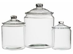 Crate and Barrel glass jars with lids empty