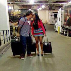 Cute picture of Jon Fatu (WWE Superstar Jimmy Uso) and his wife Trinity McCray-Fatu (WWE Diva Naomi Knight)