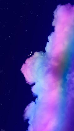 Night Sky Wallpaper, Cloud Wallpaper, Iphone Wallpaper Tumblr Aesthetic, Wallpaper Space, Rainbow Wallpaper, Iphone Background Wallpaper, Scenery Wallpaper, Aesthetic Pastel Wallpaper, Dark Wallpaper