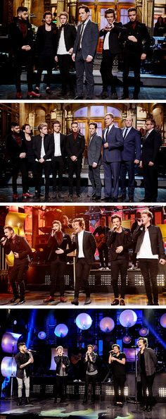 One Direction on SNL<<< Oml Horan & Tomlinson are literally killing me & Payne-O in the 1st one ughh!!!!