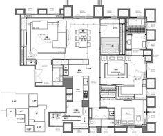 AFTER 平面圖提供_ L'atelier Fantasia繽紛設計 Apartment Floor Plans, House Floor Plans, Interior Design Layout, Villa Plan, Elevation Plan, Unit Plan, Room Planning, Architecture Plan, Plan Design