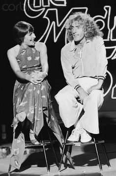 Helen Reddy Talking with Roger Daltrey