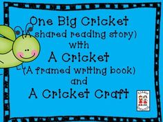 This product is an original shared reading book with a cricket theme. We have included:   *A shared book   *A kiddo copy with a sight/popcorn word   *A framed writing book    *Some writing formats  This resource would be a great addition to a cricket unit or a complement to our Close Reading - Informational (Insects) and Literature (Eric Carle) Texts.