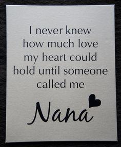 Yeah, my grandchildren call me Nana!!! Andrew, Samuel and Jasmine!! xoxo