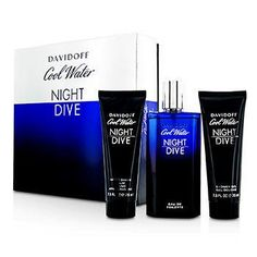 Cool Water Night Dive Coffret: Eau De Toilette Spray 125ml-4.2oz + After Shave Balm 75ml-2.5oz + Shower Gel 75ml-2.5oz - 3pcs