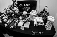 Chanel themed party an treats.