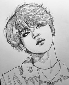 ゚suqaplum art sketches, art drawings, kpop drawings, k pop Jimin Fanart, Kpop Fanart, Draw Character, Inspiration Drawing, Kpop Drawings, Disney Fan Art, Bts Jimin, K Pop, Traditional Art