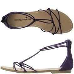 a9dd49e936f Womens - Montego Bay Club - Moxie Strappy Flat Sandal - Payless Shoe .