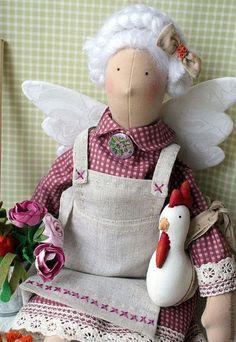 """Куклы Тильды ручной работы. Ярмарка Мастеров - ручная работа. Купить Кукла в стиле тильда """" Бабушкина дача"""". Handmade."""