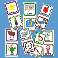 Trabajamos el vocabulario y la fonética de una manera divertida. Te proponemos un juego que consiste en emparejar palabras que rimen, por ejemplo: Niña con Piña. Para ello te dejamos estas fichas con imágenes y palabra que riman.