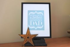 Father Art Print  To Be a Dad  8x10 // Navy Celadon by iloveitall, $21.00