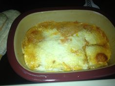 Taco lasagna in pampered chef deep covered baker