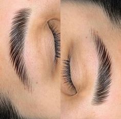 Eyebrow Lamination: The 2020 Alternative to Microblading - Brow Lamination originated in Russia and launched to an American market last year. Eyebrow Lift, Eyebrow Makeup, Makeup Geek, Natural Eyebrows, Natural Makeup, Brow Artist, Full Brows, Brow Wax, Halloween Makeup Looks