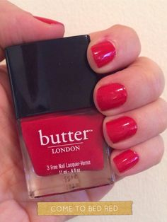 Butter London red nail polish in Come to Bed Red