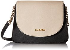 Calvin Klein on My Corner Saffiano Crossbody BlackWheat ** Click image for more details.Note:It is affiliate link to Amazon.
