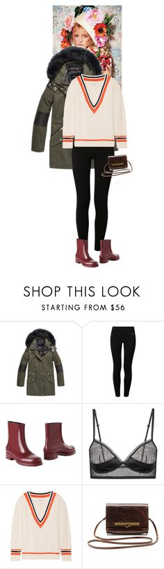 """Outfit of the Day"" by wizmurphy ❤ liked on Polyvore featuring Andrew Marc, NIKE, N°21, 3.1 Phillip Lim, Gorjana, vintage, ootd and parka"