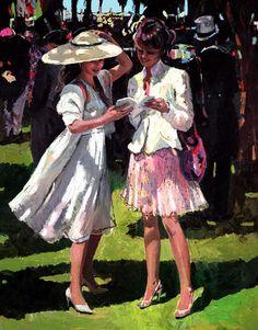 Race Day Elegance by Sherree Valentine Daines £555  Embellished Canvas