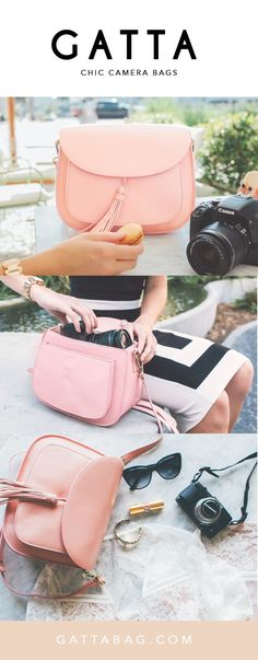 GATTA Camera Bag - Finally a chic camera bag! The most stylish way to protect your precious cargo. Nobody will know it's a camera bag. You can fit a DSLR and 1-2 lenses.