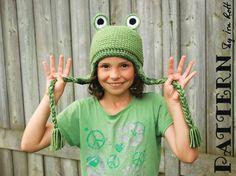 Crochet Frog Hat for Kids PDF Pattern