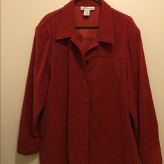 Dress Barn Button up Jacket Impeccable condition, no rips or and stains. Beautiful jacket Dress Barn Jackets & Coats Blazers