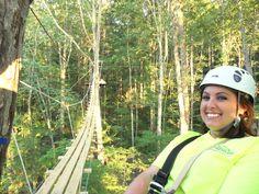 Zipping through the tree tops in Blue Ridge, Georgia!