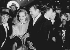 lucynic83:    Carole Lombard and Clark Gable at the world premiere of Gone With the Wind, 1939