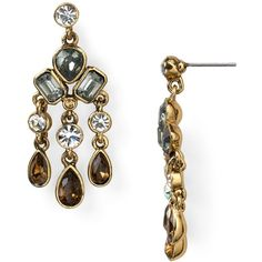Carolee Medium Chandelier Earrings (1.385 RUB) found on Polyvore