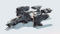 ArtStation - TNGS Gunship, Saimon Ma