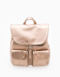 At Stradivarius you'll find 1 Metallised backpack for woman for just 19.95 € . Visit now to discover this and more BACKPACK.