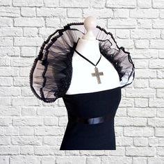 Diva Burlesque Shrug Gothic Cosplay Vintage Tüll Black Cherrys