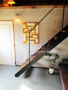 アイアン階段 高さ約1800 オブジェ 3連結 組立式 アンティーク風 アイアン階段 風本棚や飾り棚 お部屋オブジェにどうぞ☆