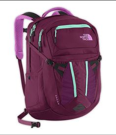 The North Face Recon Laptop Hiking Backpack Purple Blue | eBay