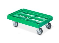 Pro transportroller met Euromorm afm. 410 mm x 610 mm groen
