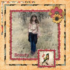 A picture of my daughter.  Kit used: Marie H. Designs' Flower Child.  Template:  Squared by LIssyKay Designs available at http://www.gottapixel.net/store/product.php?productid=10016341&cat&page=1