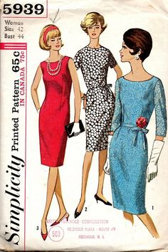 Mad Men Style Fashion Retro 60s Basic by AdeleBeeAnnPatterns
