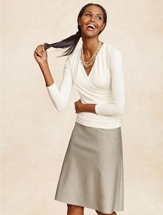 Received this in the mail today!  Talbots - Seasonless Wool A-Line Skirt | Skirts | Petites